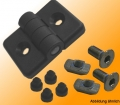 Mounting kits hinges