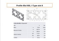 Profile 80x160 L I-type slot 8